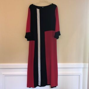 Dresses & Skirts - Plus Size Colorblock Maxi Dress Stripe